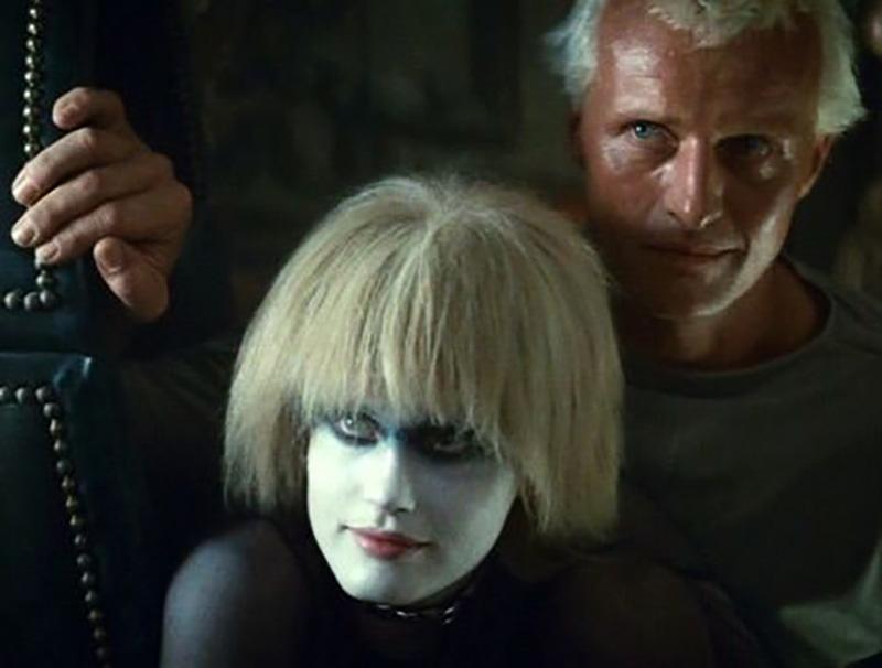Daryl Hannah as Pris and Rutger Hauer as Roy